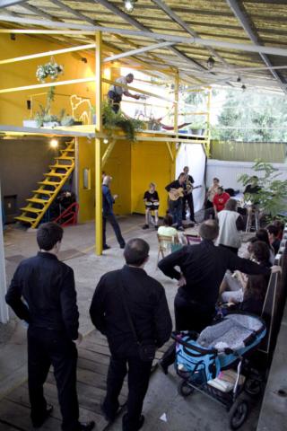 Wiata w Studio Trakcja, koncert zespołu Panoptikum